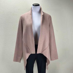 CAbi Blush Wool Handkerchief Hem Jacket